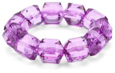 "Tarina Tarantino ""Classic"" Grape Lucite Cubed Beaded Bracelet TARINA TARANTINO. $38.00 Tarina Tarantino, Jewelry Bracelets, Stylish, My Style, Classic, Drawer, Ornament, Target, Accessories"