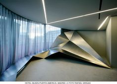 Hotel Puerta América, Madrid.The building features various interiors by famous architects & designers such as Zaha Hadid, Norman Foster and David Chipperfield.