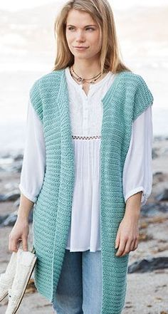 Knitting Pattern for Passionista Vest - Lena Skvagerson's simple-to-stitch vest is a versatile accessory and easy enough for beginners looking to branch out.