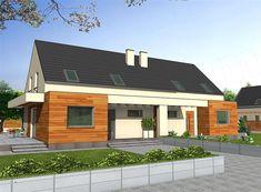 Karmel BL - wygodny dom w zabudowie bliźniaczej z oferty opusdom. Garage Doors, Outdoor Decor, Houses, Home Decor, Homes, Decoration Home, Room Decor, Home Interior Design, House