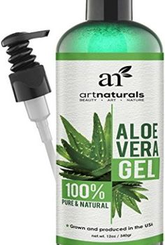 ArtNaturals-Aloe-Vera-Gel-for-Face-Hair-Body-Certified-Organic-100-Pure-Natural-Cold-Pressed-12-Oz-For-Sun-Burn-Eczema-Bug-or-Insect-Bites-Dry-Damaged-Aging-skin-Razor-Bumps-and-Acne-0