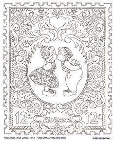 Colouring page Holland (kleurplaat Holland)