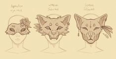 Her mask would be a mask of her monstrous form Warrior Cats, Art Reference Poses, Drawing Reference, Cat Reference, Drawing Base, Drawing Techniques, Drawing Tips, Character Design Inspiration, Cool Drawings