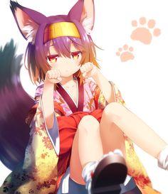 adorable kitsune girl