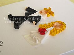 Paper quilling wedding congratulations card by QuillingWonderland