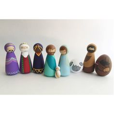 Hey, I found this really awesome Etsy listing at https://www.etsy.com/listing/468261167/nativity-set-wooden-peg-doll-nativity
