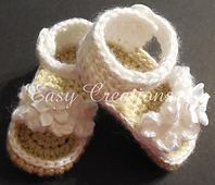 Ravelry: Ruffle Baby Girl Sandals pattern by Marcia Peterson
