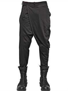 JULIUS - 17CM FRONT PANEL COTTON CANVAS TROUSERS - LUISAVIAROMA - LUXURY SHOPPING WORLDWIDE SHIPPING - FLORENCE