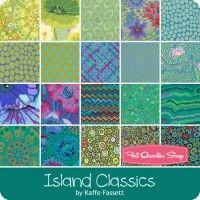 "Island Classics 10"" SquaresKaffe Fassett Collective for Westminster Fibers & Fabrics"