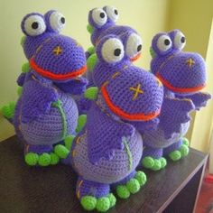 Patrones Amigurumi: Dibo, el dragón de los deseos