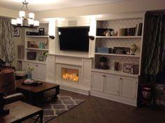 Fireplace Media Wall Units | Wall Unit, Lighting, Fireplace