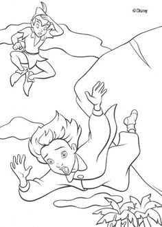 Peter Pan On Pinterest Peter Pan Coloring Pages Peter Pan Lost Boys Coloring Pages