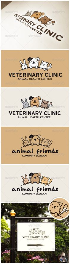 Funny Animals Logo #GraphicRiver Funny Animals Logo (Rabbit, Dog and Cat) – perfect for veterinary clinic, pet hotel, pet shop or other animals related website or product. It is a 100% scalable vector that comes in two layered formats: EPS and AI files. Fully editable colors, fonts and text. Logo comes in different design versions: color filled or transparent, with