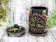 World Tree Of Life Apothecary Jar Potion Bottle / Yggdrasil Norse Apothecary Bottle Pagan Decor Wicca Wiccan Altar Witchy Decor Witch Gift Apothecary Decor, Apothecary Bottles, Wiccan Decor, Wiccan Altar, Witch Jewelry, Pagan Jewelry, Potion Bottle, Witch Aesthetic, Gothic Home Decor