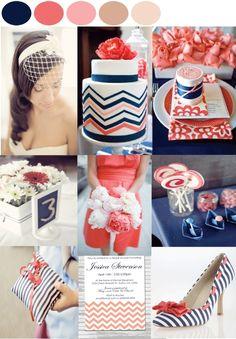 Preppy Coastal Wedding Inspiration Board by One Fine Day Events  www.onefinedaychi...