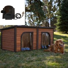 Today, is all about dogs, specifically ~ dog house designs. Dog houses allow dogs to have a comfortable living space while keeping your house clean and tidy. Wood Dog House, Puppy Supplies, Dog Ramp, Puppy House, Animal House, Dog Houses, Pet Accessories, Garden Inspiration, Best Dogs