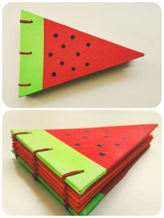 Watermelon handmade bookbinding