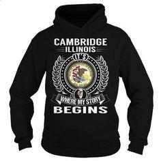 Cambridge, Illinois Its Where My Story Begins - #sleeve #transesophageal echocardiogram. CHECK PRICE => https://www.sunfrog.com/States/Cambridge-Illinois-Its-Where-My-Story-Begins-Black-Hoodie.html?60505