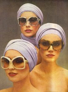 Vintage YSL sunglasses ad - Vogue May 1976