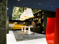 Hotel lobby of The Andaz Hotel (Design: Marcel Wanders)