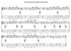 Ukulele tab - Do you want to build a snow man