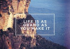 Life is as grand as you make it. #keen #recess