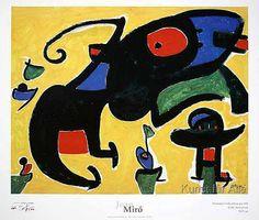 Joan Miró - Personatges i ocells amb un gos, 1978