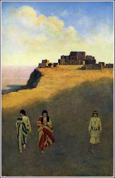 The Great Southwest: Pueblo Dwellings by Maxfield Parrish, 1902