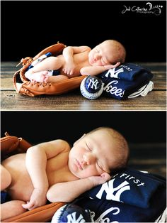 yankees newborn portrait
