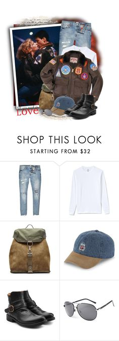"""""""Top Gun"""" by tasha1973 ❤ liked on Polyvore featuring River Island, Lands' End, Maison Margiela, Stussy, Fiorentini + Baker, Brewster Home Fashions, men's fashion and menswear"""