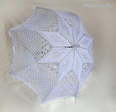 Lilac wedding umbrella victorian style by ModernCrochetClub