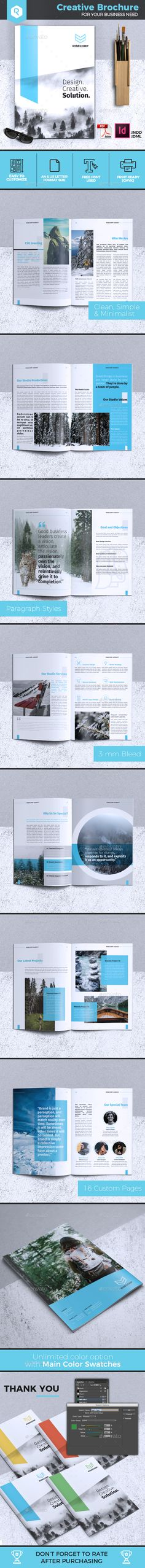Creative Brochure Template Vol. 28 - #Corporate #Brochures Download here:  https://graphicriver.net/item/creative-brochure-template-vol-28/20324652?ref=alena994