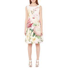 93963bcd15d6 Buy Ted Baker Encyclopedia Floral Dress, Nude Pink Online at johnlewis.com  Valentine's Day
