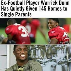 ThePositibe Black Images they never show you Warrick Dunn, By Any Means Necessary, Gives Me Hope, Faith In Humanity Restored, Good Deeds, Good People, Amazing People, Inspiring People, History Facts
