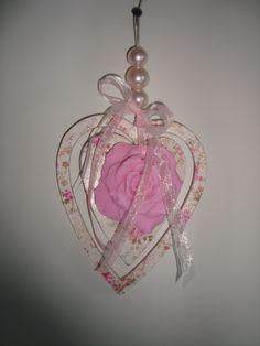 Decopatch hart met bloemenzeep