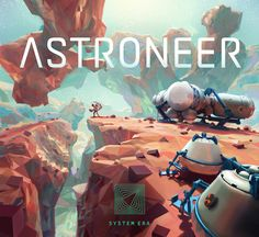 Astroneer: A sci-fi exploration and adventure game from developer System Era. Environment Concept Art, Environment Design, Game Environment, Low Poly Games, No Man's Sky, 3d Figures, Game Concept, Environmental Art, Game Design