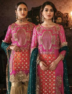 Buy Leading Designer Suits online perfect for Weddings and traditional occasions. Choose from our wide collection of Leading Designer Suits and ace the luxurious look at any party at affordable prices. Pakistani Wedding Outfits, Wedding Dresses For Girls, Pakistani Dresses, Indian Dresses, Indian Outfits, Wedding Hijab, Pakistani Bridal, Indian Bridal, Bridal Dresses
