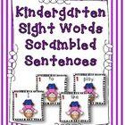Kindergarten Sight Words Scrambled Sentences$