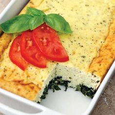 Low Carb Spinach Ricotta Casserole