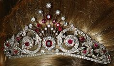 The Ruby Peacock Tiara:  Made for Queen Wilhelmina in 1897, it's probably most closely associated with Beatrix's sister, Princess Irene, who wore the tiara many times.  But Irene ran into some royal roadblocks when she lost her succession rights – and left the country for nearly 20 years – after her controversial marriage to Prince Carlos of Bourbon-Parma in the 1960s. The tiara gathered dust for some time before it was brought out again by Princess Maxima.