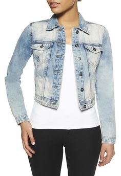 The Classic Denim Jacket by JustFab is a timeless style that'll never fade away.