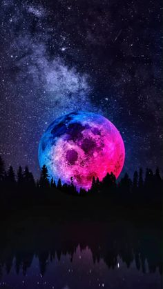Moon In The Night Iphone Wallpaper Free – GetintoPik Planets Wallpaper, Trippy Wallpaper, Wallpaper Space, Purple Wallpaper, Aesthetic Pastel Wallpaper, Cute Wallpaper Backgrounds, Wallpaper Iphone Cute, Pretty Wallpapers, Aesthetic Wallpapers