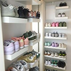 Storage Bins for Closet Shelves . Storage Bins for Closet Shelves . My Closet Reveal Girls Sneakers, Sneakers Fashion, Shoes Sneakers, Adidas Fashion, Adidas Sneakers, Trainers Adidas, Fashion Shoes, Fashion Trainers, Fashion Decor