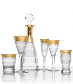 "Design 1911, Moser ""Splendid"" Drinking Set, considered the most renowned and best known drinking set of the Moser Glass Co."