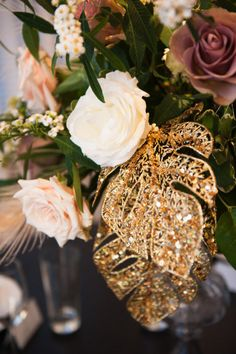 Floral design: Nancy Krause Floral Design & Garden Antiques - Great Gatsby Styled Wedding Inspiration from The Photography Stylistas
