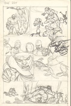 Gil Kane  - Defenders Giant Size #2 pg 08 layouts Comic Art
