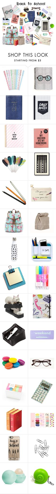 """""""School Supplies"""" by onewithbirds ❤ liked on Polyvore featuring interior, interiors, interior design, home, home decor, interior decorating, Topshop, HAY, Kate Spade and Jac Zagoory Designs"""