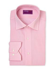 Lorenzo Uomo Pink Gingham Dress Shirt