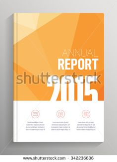Annual Report 2015 cover, low poly cover layout for books, brochures, flyers with bleed and crop marks                                                                                                                                                     More