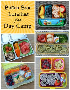 Bistro Box Lunches for Day Camp ~ Becoming A Bentoholic